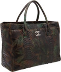 Luxury Accessories:Bags, Chanel Camouflage Python Large Executive Cerf Tote Bag withGunmetal Hardware. ...