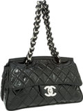 Luxury Accessories:Bags, Chanel Black Patent Leather Jumbo Single Flap Bag with SilverHardware . ...