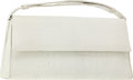 Luxury Accessories:Bags, Darby Scott White Crocodile Clutch Bag with Detachable Handle. ...