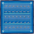 "Luxury Accessories:Accessories, Hermes Blue ""Sequences,"" by Caty Latham Silk Scarf. ..."