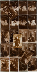 Miscellaneous:Ephemera, Group of Twenty-Three German Photographic Postcards. Each cardtells the story of a long distance exchange between and man a...