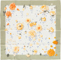 "Luxury Accessories:Accessories, Hermes Sage, Cream & Yellow ""La Rosee,"" by A. Gavarni SilkScarf. ..."