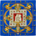 "Luxury Accessories:Accessories, Hermes Blue & Gold ""Hommage a Charles Garnier"" by Caty LathamSilk Scarf. ..."