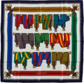"Luxury Accessories:Accessories, Hermes Green, Red & Blue ""Sangles,"" by Joachim Metz Silk Scarf...."