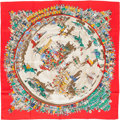 "Luxury Accessories:Accessories, Hermes Red, Yellow & Green ""Cirque Molier,"" by Philippe DumasSilk Scarf. ..."