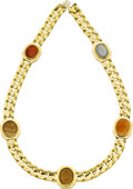 Estate Jewelry:Necklaces, Hardstone Intaglio, Gold Necklace, Bvlgari. ...