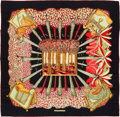 "Luxury Accessories:Accessories, Hermes Black, Red & Green ""Ombres et Lumieres,"" by Annie FaivreSilk Scarf. ..."