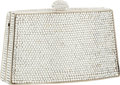 Art Glass:Daum, Judith Leiber Full Bead Silver Crystal Minaudiere Evening Bag. ...