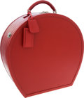 Luxury Accessories:Travel/Trunks, Prada Red Saffiano Leather Hard Sided Hatbox. ...