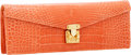 Luxury Accessories:Bags, Lana Marks Coral Alligator Concord Clutch Bag with Shoulder Strap....
