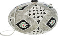 Luxury Accessories:Bags, Judith Leiber Full Bead Silver Crystal Egg Minaudiere Evening Bag. ...