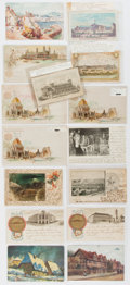 Miscellaneous:Ephemera, Group of Fifteen Trade Cards and Postcards. Turn of the centurycards depicting scenes from the International Exhibition, Wo...