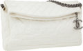 Luxury Accessories:Bags, Chanel Paris-Moscow White Quilted Lambskin Leather Bag with TwistedGunmetal Chain. ...