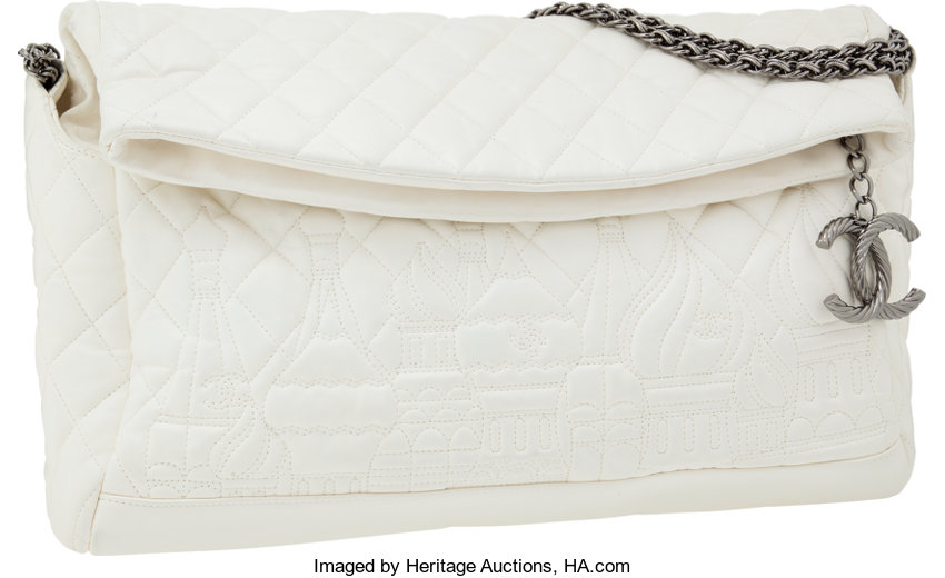 02283a7df84c Chanel Paris-Moscow White Quilted Lambskin Leather Bag with