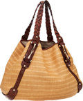 Luxury Accessories:Bags, Gucci Brown Crocodile & Woven Pelham Tote Bag with HorsebitAccents. ...