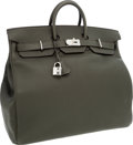 Luxury Accessories:Bags, Hermes 50cm Vert de Gris Togo Leather HAC Travel Birkin Bag with Palladium Hardware. ...