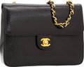 Luxury Accessories:Bags, Chanel Black Lizard Flap Bag with Gold Hardware. ...