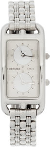 Luxury Accessories:Accessories, Hermes Stainless Steel Deux Zones Cape Cod Elan Watch. ...