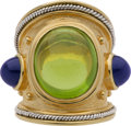 Estate Jewelry:Rings, Peridot, Sapphire, Gold Ring. ...