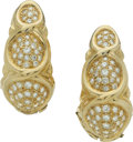 Estate Jewelry:Earrings, Diamond, Gold Earrings, Demner. ...