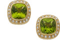 Estate Jewelry:Earrings, Peridot, Diamond, Gold Earrings, Carol Silvera. ...