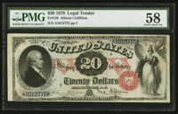 Fr. 129 $20 1878 Legal Tender PMG Choice About Uncirculated 58