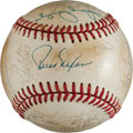Autographs:Bats, 1982 Cincinnati Reds Team Signed Baseball. ...