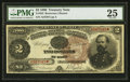 Large Size:Treasury Notes, Fr. 353 $2 1890 Treasury Note PMG Very Fine 25.. ...