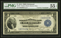 Fr. 721 $1 1918 Federal Reserve Bank Note Double Courtesy Autograph PMG About Uncirculated 55 EPQ