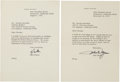 Movie/TV Memorabilia:Documents, A George Marshall-Received Set of Letters from John Wayne, 1973....