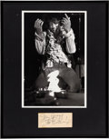 Music Memorabilia:Autographs and Signed Items, Jimi Hendrix Signature with Monterey Pop Photo in FramedDisplay....