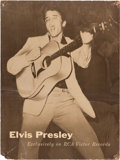 Music Memorabilia:Documents, Elvis Presley - A Very Early Promotional Display, Circa 1956....