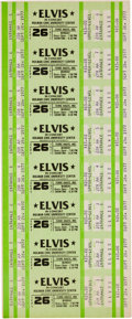 Music Memorabilia:Documents, Elvis Presley - An Unperforated Sheet of Concert Tickets, 1977....