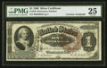 Large Size:Silver Certificates, Fr. 220 $1 1886 Silver Certificate Courtesy Autograph PMG Very Fine 25.. ...