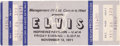 Music Memorabilia:Documents, Elvis Presley - An Unused Concert Ticket, 1971....