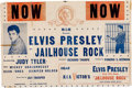 Music Memorabilia:Documents, Elvis Presley - A Rare and Early Promotional Poster Related toJailhouse Rock....