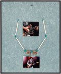 Music Memorabilia:Costumes, Stevie Ray Vaughan Personally Owned and Stage Worn Necklace inFramed Display. ...