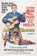 Music Memorabilia:Documents, Elvis Presley - Love Me Tender One Sheet Movie Poster (20thCentury Fox, 1956)....