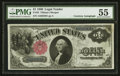 Fr. 35 $1 1880 Legal Tender Courtesy Autographed PMG About Uncirculated 55