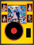 Music Memorabilia:Autographs and Signed Items, Stevie Ray Vaughan Signed Back to the Beach Soundtrack LP inFramed Display. ...