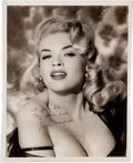 Movie/TV Memorabilia:Autographs and Signed Items, A Jayne Mansfield Early Signed Black and White Photograph, Circa1955....