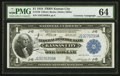 Fr. 739 $1 1918 Federal Reserve Bank Note Courtesy Autograph PMG Choice Uncirculated 64
