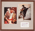 Music Memorabilia:Autographs and Signed Items, Stevie Ray Vaughan Signed Ticket Stub in Framed Display....