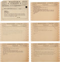 Movie/TV Memorabilia:Documents, A Joey Bishop Group of Received Telegrams, 1940s, 1960s....