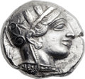 Ancients:Greek, Ancients: ATTICA. Athens. Ca. 454-404 BC. AR tetradrachm (25mm,19.99 gm, 11h)....