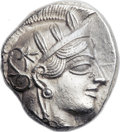 Ancients:Greek, Ancients: ATTICA. Athens. Ca. 454-404 BC. AR tetradrachm (24mm,17.17 gm, 1h)....