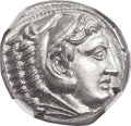 Ancients:Greek, Ancients: MACEDONIAN KINGDOM. Alexander III the Great (336-323 BC).AR tetradrachm (24mm, 17.19 gm, 1h)....