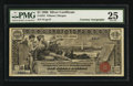 Large Size:Silver Certificates, Fr. 224 $1 1896 Silver Certificate Double Courtesy Autograph PMG Very Fine 25.. ...