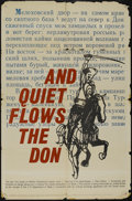 "Movie Posters:War, And Quiet Flows the Don (United Artists, 1960). One Sheet (27"" X41""). War. Directed by Sergei Gerasimov. Starring Ellina By..."