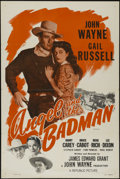 """Movie Posters:Western, Angel and the Badman (Republic, R-1959). One Sheet (27"""" X 41""""). Western. Directed by James Edward Grant. Starring John Wayne..."""